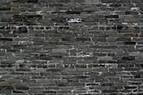 old chinese blue bricks wall