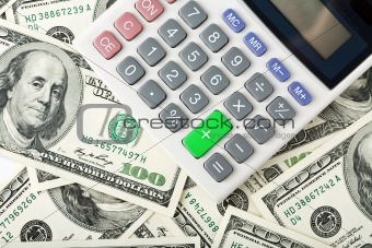dollars and calculator