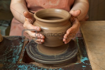 Potter shows just created a pot