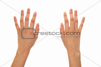 Pair of hands isolated