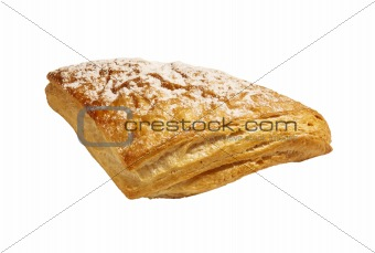 Fresh bread on a white background