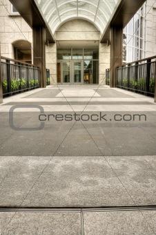 City corridor scenic