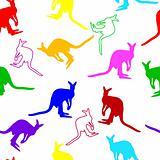 Seamless kangaroo pattern
