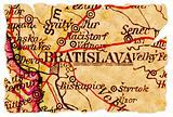 Bratislava old map