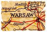 Warsaw old map