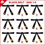 MARTIAL ARTS BLACK BELTS. 1-9 DAN
