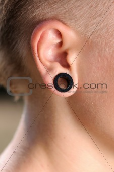 stretched earlobe