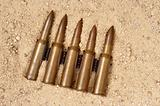 ammunition on the sand
