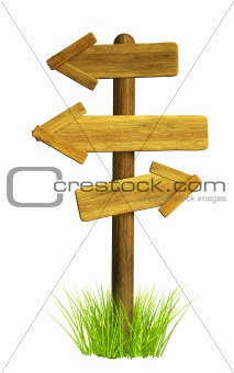 3d retro wooden arrows