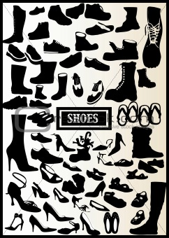71 VECTORS BLACK SHOES