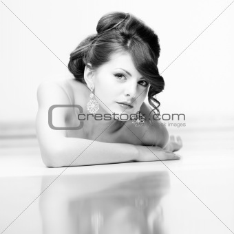 Beauty portrait with reflexion