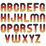 german flag glossy shiny bubble fonts