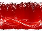 Abstract red white Christmas, winter background
