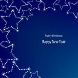 Christmas stars on blue background. Vector