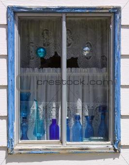 Blue Bottles - Blue Window