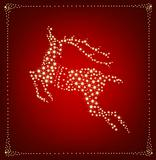Christmas card with star deer. Vector illustration