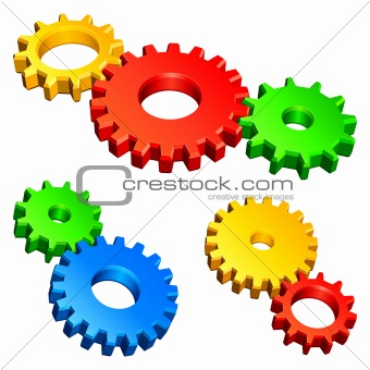 Color gears.