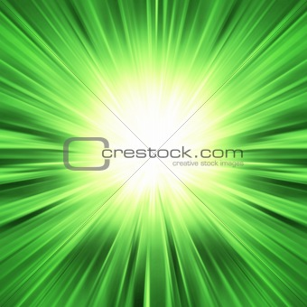 Green light burst