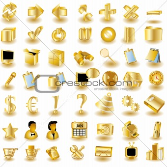 Gold Interface Icons