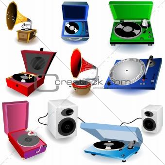 Gramophone Set