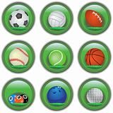 Green sport buttons