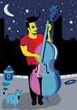 Man with double bass
