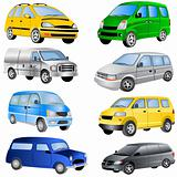 Minivan Icons Set