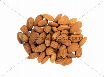 almond salted isolated on a white