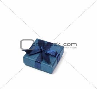 a blue gift box
