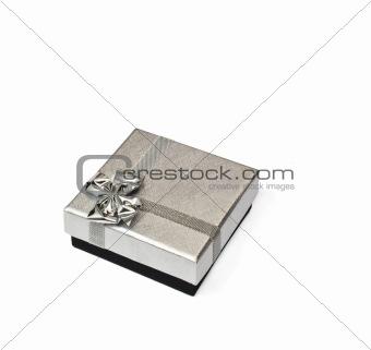 a silver gift box