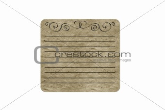 Blank cardboard isolated on white background