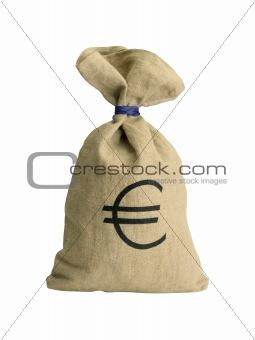 Money bag isolated on white background