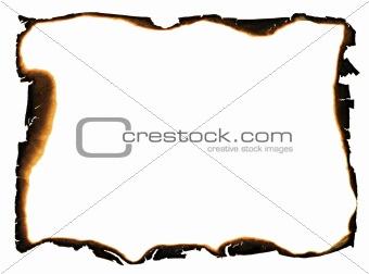 charred edges