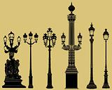 old fashioned lampost set