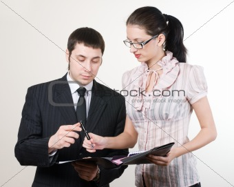 Businessman and secretary