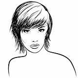 very pretty girl with nice haircut