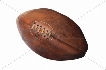 american football against white background