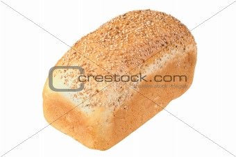 bread isolated over white background