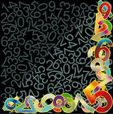 Abstract background with multicolor numbers signs