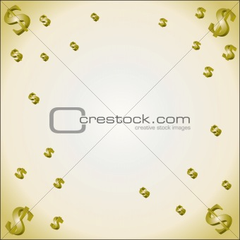 Abstract background with dollar