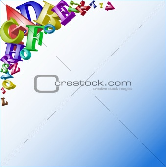 Abstract vector background with letters