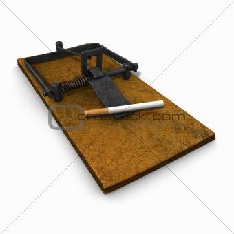 3d illustration on nicotine addiction