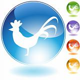 Rooster Crystal Icon