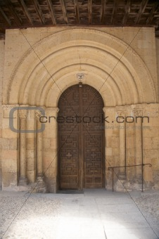 ancient church door in segovia