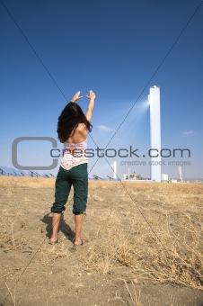 greeting solar power tower