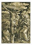 The Crucifixion Woodcut Woodblock print