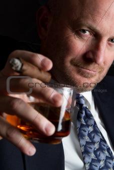 Drinking Smoking Man