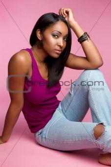 Black Girl Sitting