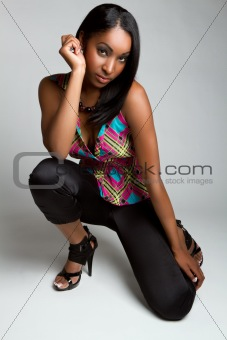 Black Fashion Model Woman