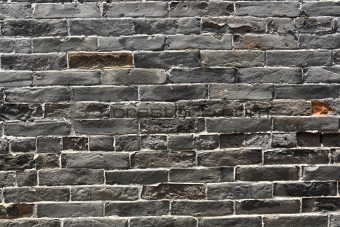 old Chinese blue bricks wall